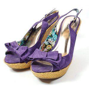 Charlotte Russe Wedge Heel Peep Toe Sandals